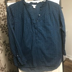 Point Sur J. Crew Royal Blue Top Size 4